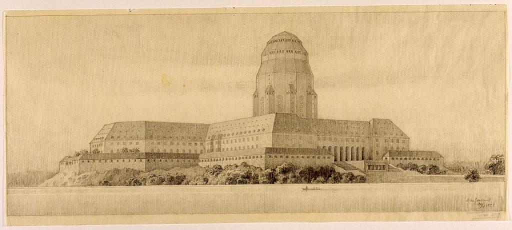 49-242, Eliel Saarinen, Kalevala-talo, suunnitelma