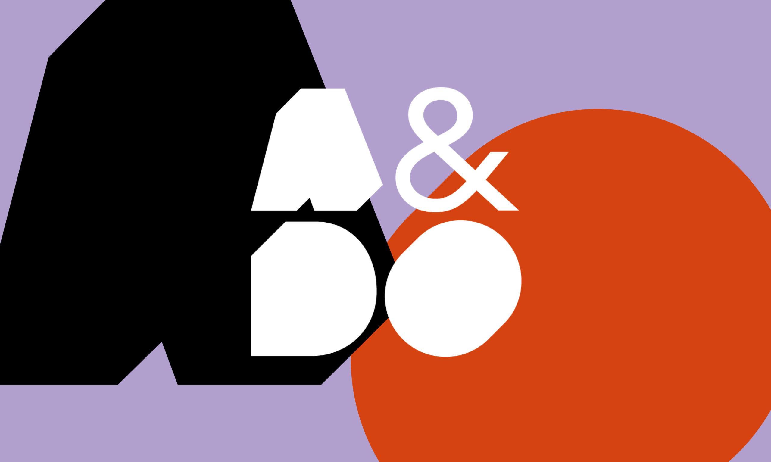 A&Do Arkkitehtuurin ja muotoilun oppimisen keskuksen logo värillisellä taustalla