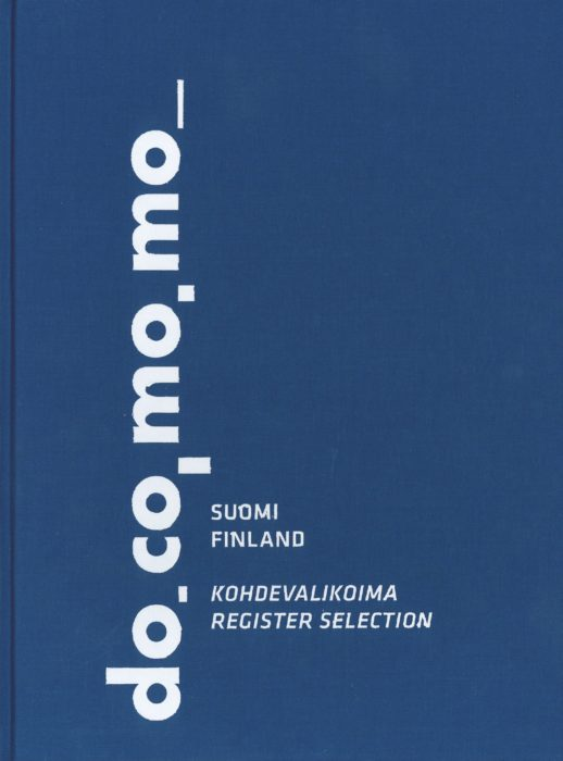 Suomen Docomomon kohdevalikoiman kansi
