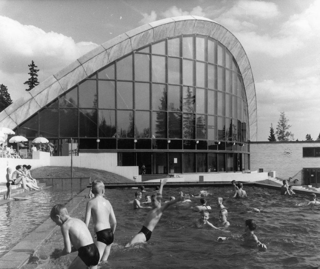 47-1519, Jorma Järvi, Erkki Olavi Heloma, Volker Bonin von, Kouvolan uimahalli